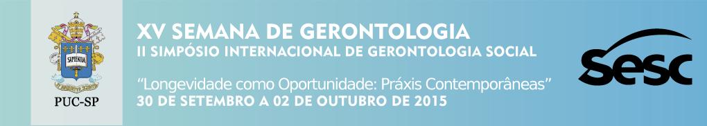 XV Semana de Gerontologia